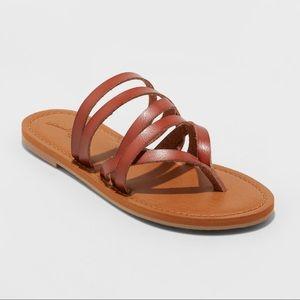 Women's Maritza Multi Strap Toe Slide Sandal